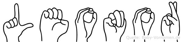 Leonor in Fingersprache für Gehörlose
