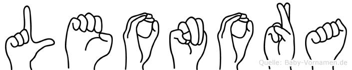 Leonora in Fingersprache für Gehörlose