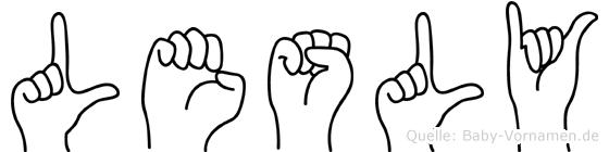 Lesly im Fingeralphabet der Deutschen Gebärdensprache