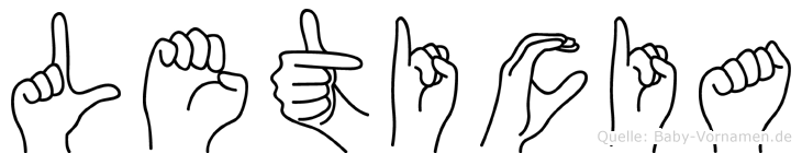 Leticia im Fingeralphabet der Deutschen Gebärdensprache