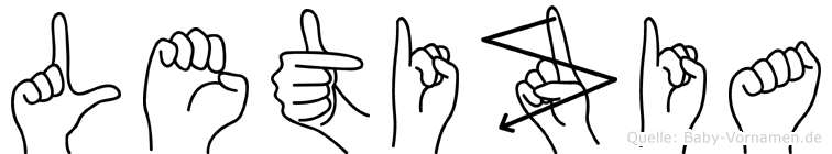 Letizia im Fingeralphabet der Deutschen Gebärdensprache