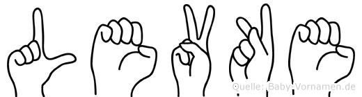 Levke in Fingersprache für Gehörlose