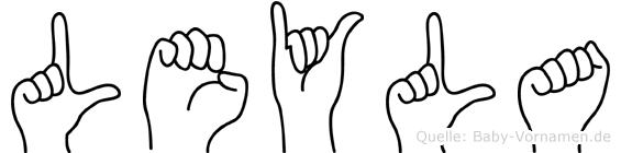 Leyla im Fingeralphabet der Deutschen Gebärdensprache