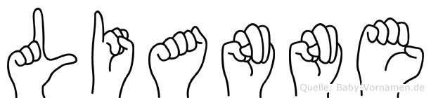Lianne in Fingersprache für Gehörlose