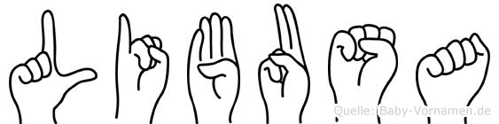 Libusa in Fingersprache für Gehörlose