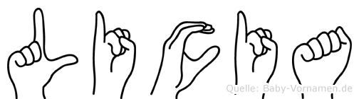 Licia in Fingersprache für Gehörlose