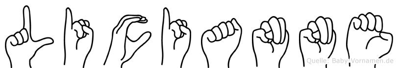 Licianne im Fingeralphabet der Deutschen Gebärdensprache
