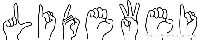 Lidewei in Fingersprache für Gehörlose