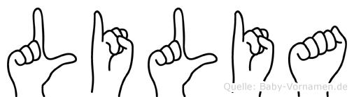 Lilia in Fingersprache für Gehörlose