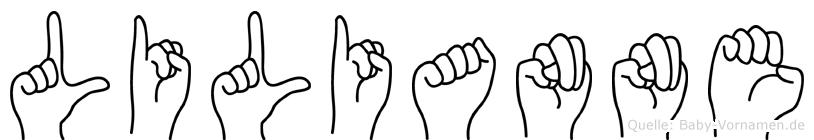 Lilianne im Fingeralphabet der Deutschen Gebärdensprache