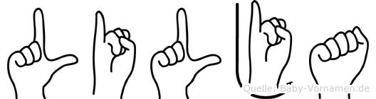 Lilja im Fingeralphabet der Deutschen Gebärdensprache