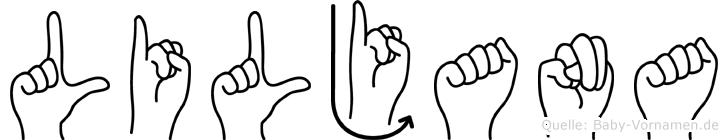 Liljana in Fingersprache für Gehörlose