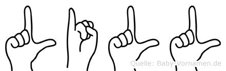 Lill in Fingersprache für Gehörlose