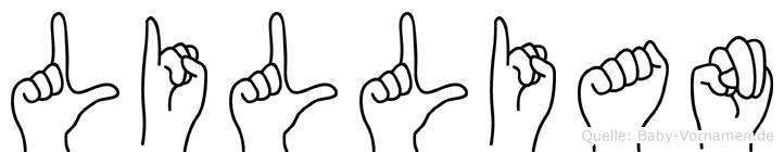 Lillian in Fingersprache für Gehörlose