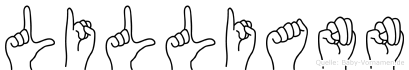 Lilliann in Fingersprache für Gehörlose