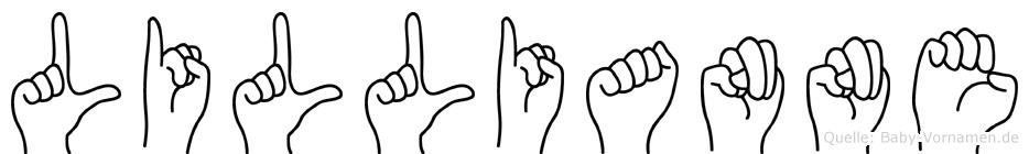 Lillianne im Fingeralphabet der Deutschen Gebärdensprache
