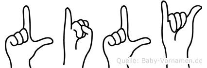 Lily in Fingersprache für Gehörlose