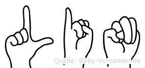 Lin in Fingersprache für Gehörlose