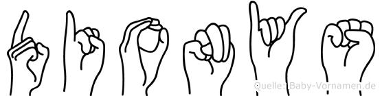 Dionys in Fingersprache für Gehörlose