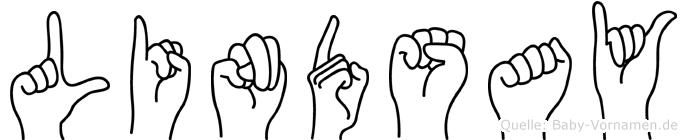 Lindsay im Fingeralphabet der Deutschen Gebärdensprache