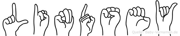 Lindsey im Fingeralphabet der Deutschen Gebärdensprache