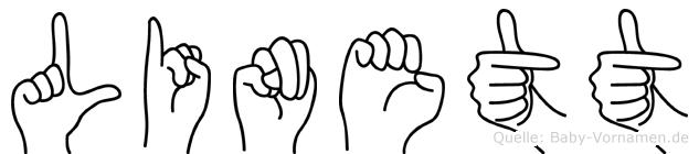 Linett in Fingersprache für Gehörlose