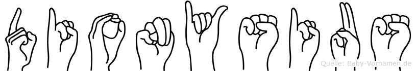 Dionysius in Fingersprache für Gehörlose