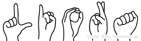 Liora im Fingeralphabet der Deutschen Gebärdensprache
