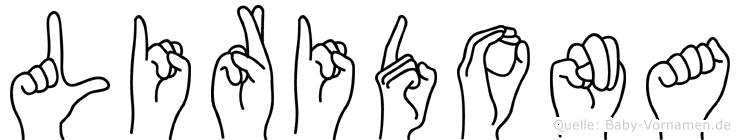 Liridona im Fingeralphabet der Deutschen Gebärdensprache