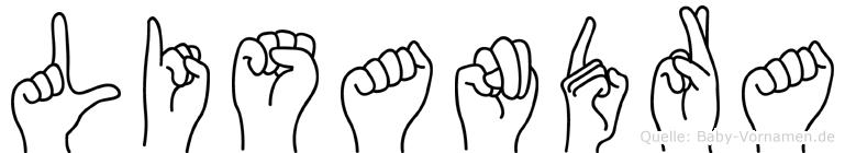 Lisandra im Fingeralphabet der Deutschen Gebärdensprache