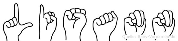 Lisann im Fingeralphabet der Deutschen Gebärdensprache