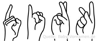 Dirk in Fingersprache für Gehörlose