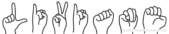 Liviane in Fingersprache für Gehörlose