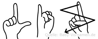 Liz in Fingersprache für Gehörlose