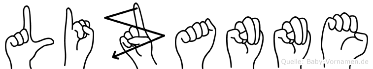 Lizanne im Fingeralphabet der Deutschen Gebärdensprache