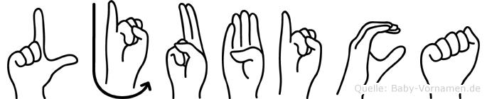 Ljubica in Fingersprache für Gehörlose