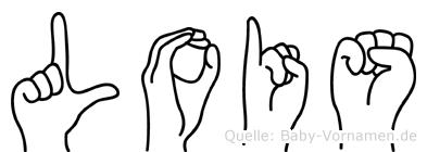 Lois im Fingeralphabet der Deutschen Gebärdensprache