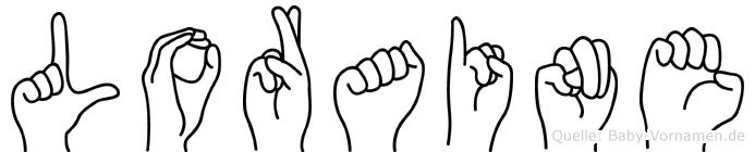 Loraine im Fingeralphabet der Deutschen Gebärdensprache