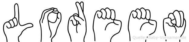 Loreen im Fingeralphabet der Deutschen Gebärdensprache