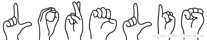 Lorelis im Fingeralphabet der Deutschen Gebärdensprache