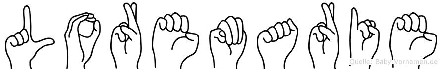 Loremarie im Fingeralphabet der Deutschen Gebärdensprache