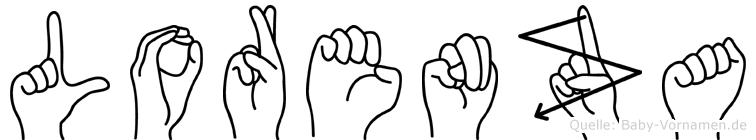 Lorenza im Fingeralphabet der Deutschen Gebärdensprache