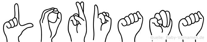 Loriana in Fingersprache für Gehörlose
