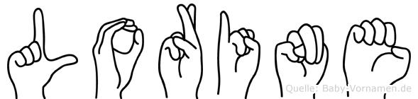 Lorine im Fingeralphabet der Deutschen Gebärdensprache