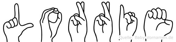 Lorrie im Fingeralphabet der Deutschen Gebärdensprache