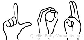 Lou im Fingeralphabet der Deutschen Gebärdensprache