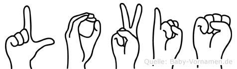 Lovis im Fingeralphabet der Deutschen Gebärdensprache
