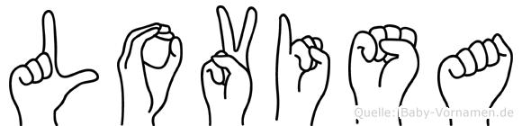Lovisa in Fingersprache für Gehörlose
