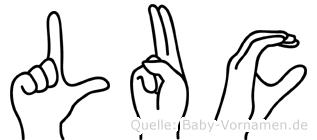 Luc in Fingersprache für Gehörlose