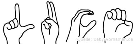 Luce in Fingersprache für Gehörlose